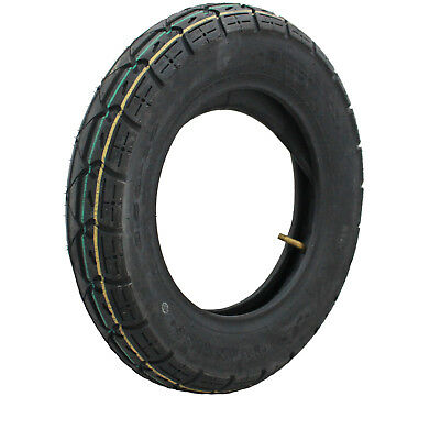 "Yuanxing 10"" Scooter Tyre 3.50-10 51J Yellow Green WITH Inner Tube GhostBikes"