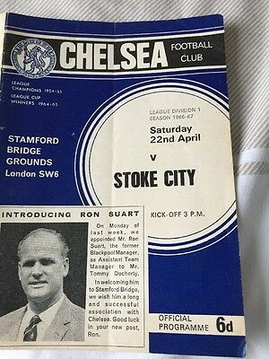 Chelsea V Stoke April 1967 With Rare Fa Cup Final Ticket Application