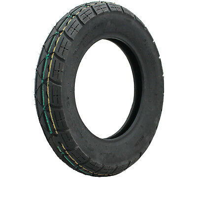 "Yuanxing 10"" Scooter Tyre 3.50-10 51J Yellow Green P58 Moped Ten Inch 3.50x10"
