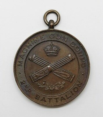 WW1 Machine Gun Corps 2nd Battalion Large Medal Medallion #20