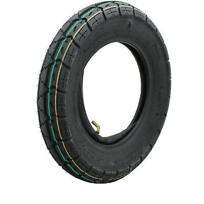 "Yuanxing 10"" Scooter Tyre 3.50-10 WITH Inner Tube 465lbs Max Load Yellow Green"