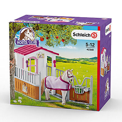 Schleich 42368 Horse Stall With Lusitano Mare (Horse Club) Plastic Figure