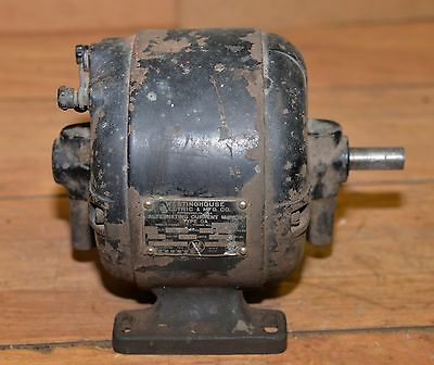 Antique Westinghouse electric motor collectible steam punk industrial tool