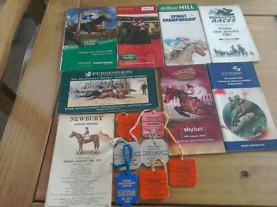 8 x Racecards and 7 Card Badges.