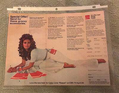 Vintage 1970 Coca-Cola Summer Squares Offer Raquel Welch Fold-Out Pamphlet