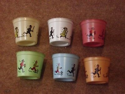 Tintin Ice cream pots from 1971 - individual purchase - rare - rf648