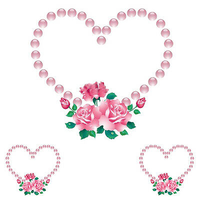 PinK RoSeS & PeaRLs HeaRTs SHaBbY WaTerSLiDe DeCALs