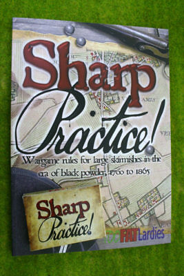SHARP PRACTICE Book and Card set Wargame rules for Black powder Skirmishes