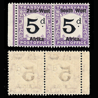 "South West Africa Postage Due 1923 5d ""Afrika"" without stop fine MNH SG D1b £140"