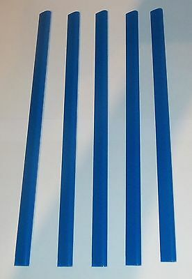 5 x A4 Slide Binders/Spine Bars 5mm x 297mm in Blue for Home,Office & Schools .