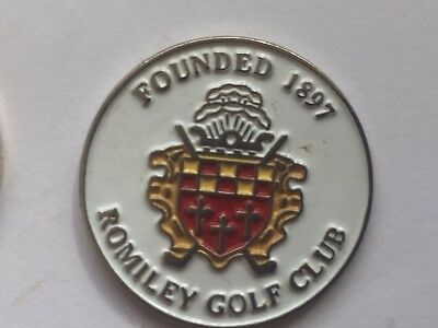 Rare Golf Ball Marker Romiley Golf Club - In Excellent Condition
