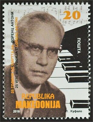 Makedonien Macedonia 2016 Nr. 774 Lawrence Anthony berühmte Person Pianist