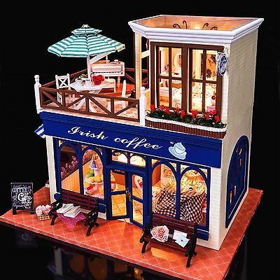 DIY Handcraft Miniature Project Wooden Dolls House My Coffee Shop in Ireland