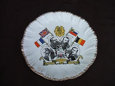 Old World War 1914 The Allies Plate France Britain Russia Belgium