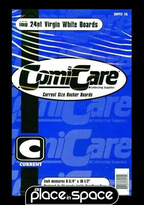 """100 Comicare Current Comic Backing Boards 6 3/4"""" X 10 1/2"""""""