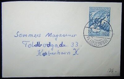 1967 Greenland Posted  Mail Used .. With The Stamp 60 Ore Blue Green Land Legend