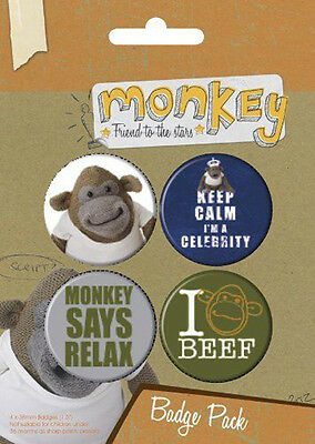 Button Badge 4er Pack MONKEY - Friend Of The Stars 4 x 38mm NEU