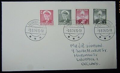 1954 Greenland X2 1 Ore X2 2 Ore On Cover  To England  Used..stamps Issued 1950