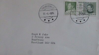 1975  Greenland  To Scotland Mail  Used.(Forses Mail Capt K Jahr)