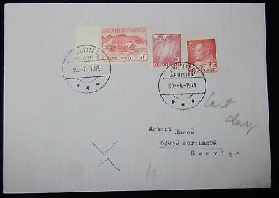1979  Greenland  Mail  To  Sverige Used..1961+Stamps On Cover Un-Usual