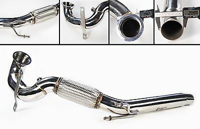 Stainless Steel Exhaust Cat Remove Downpipe Vw Golf Mk7 Gti 2013+