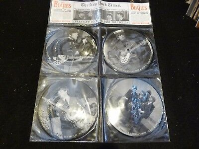 The Beatles : Interview Picture Disc Collection: 4 X In Plastic Wallet:bakpak