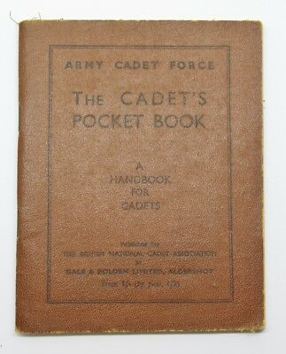1943 Army Cadet Force Cadet's Pocket Hand Book #37