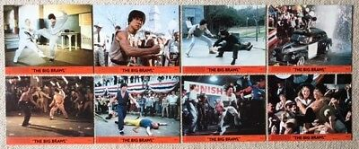 "THE BIG BRAWL. JACKIE CHAN. ORIG 8 UK LOBBY CARDS. F.O.H. STILLS.10""x 8"".1980"