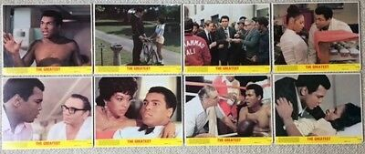 "THE GREATEST. MUHAMMAD ALI. ORIG SET 8 UK LOBBY CARDS. F.O.H.STILLS.10""x 8"".1977"