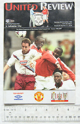 1999 programme Manchester United v. Leicester City