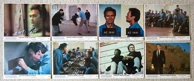 "ESCAPE FROM ALCATRAZ.CLINT EASTWOOD. 8 UK LOBBY CARDS. F.O.H. STILLS.10""x 8""1979"
