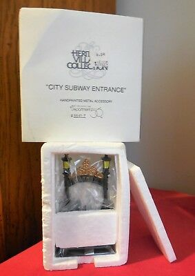 """Dept. 56 Heritage Village Collection """" CITY SUBWAY ENTRANCE """"  # 5541-7  NEW"""