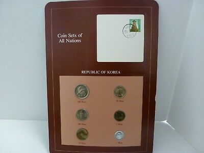 Coin Sets of All Nations Korea all 1983 but 500 & 100 Won 1984 UNC 83.3.15