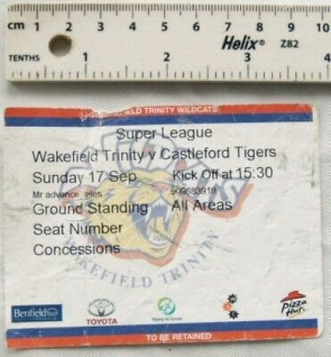 2007 ticket Wakefield Trinity v. Castleford Tigers