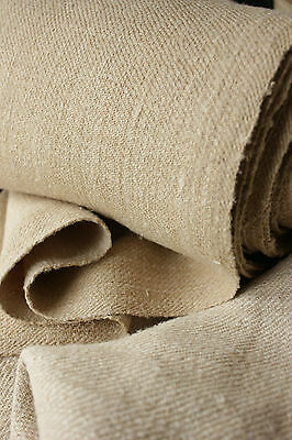 Antique linen hemp Upholstery slipcover fabric 13.4 YDS ! by 24 WIDE twill weave