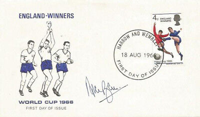Alan Ball England 1966 World Cup signed FDC Cover Harrow Wembley 18 AUG Franked