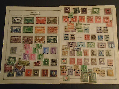 Fantastic Yugoslavia Collection On Album Pages Very Old Mh/used Stamps