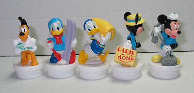 5 seltene Nestle Smarties Toppers Topper Duty Free Mickey Pluto, Donald Duck ...