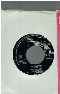Stevie Wonder Superstition 45 Motown 1972