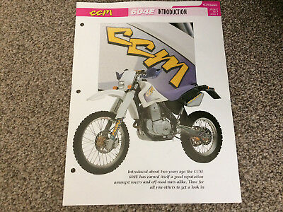 CCM604E the complete data/fact file from essential superbikes