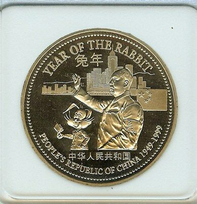 Macau Returns To China 1999 Trade $1 -People's Republic- Near Perfect Proof Dcam