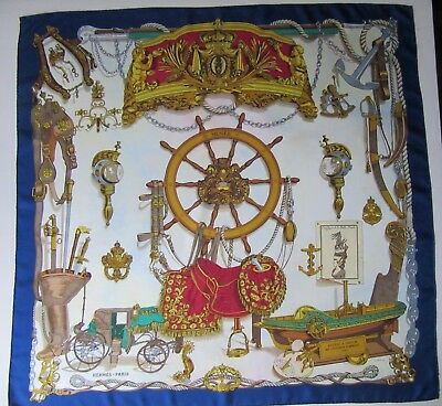 HERMES Musee silk scarf by Philippe LEDOUX 89 x 89 cm COLOUR RUN