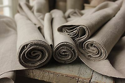 GRAINSACK fabric grain sack material GREY GRAY old WIDE 12 YARDS upholstery