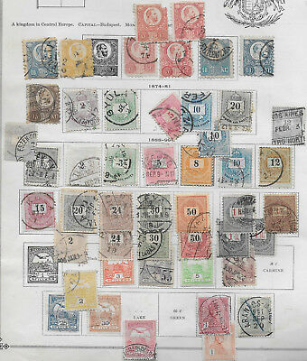 Fantastic Hungary Lot On Album Page Very Old Mh/used Stamps