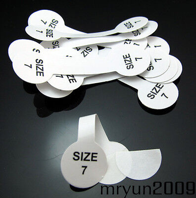 FREE 100PCS Jewelry Ring Stick Tags Jeweler Store Display String Reseller Size 7