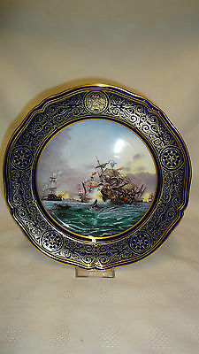 Limited Edition Spode Armada Series Collector Plate No6 Revenge Off Gravelines
