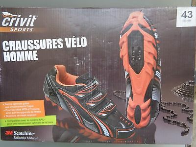 Chaussures Cycliste Homme Vélo CRIVIT Neuf Size 43 Men Cyclist shoes Bicycle New