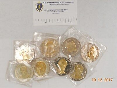 Silver And Gold Plated Rounds, Presidential Theme