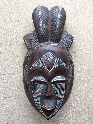 Collectable Vintage Carved African Mask