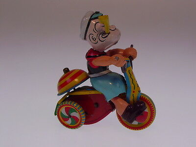 "GSCOM  ""POPEYE TRICYCLE"" 1950s  MARX , W/U OK, NEUWERTIG/NEARLY NEW  !"